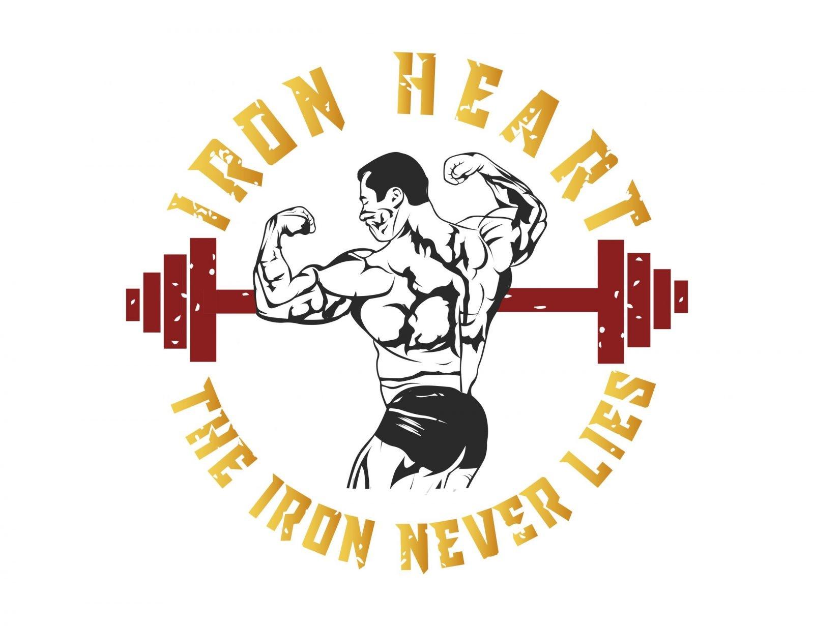 Gym Iron heart Logo